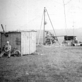 Brunnenbaustelle aus der Nachkriegszeit